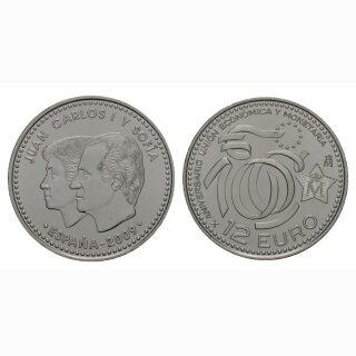 Spanien 12 Euro 2009 Silber Währungsunion