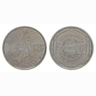 Frankreich 10 Euro 2009 Silber Nationale Symbole