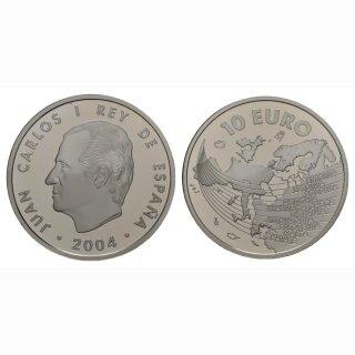 Spanien 10 Euro 2004 Silber Erweiterung EU