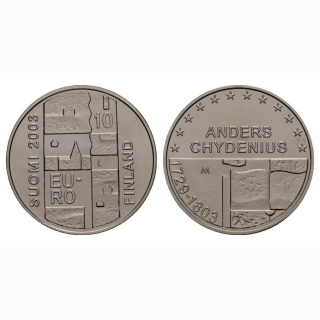 Finnland 10 Euro 2003 Silber Andres Chydenius
