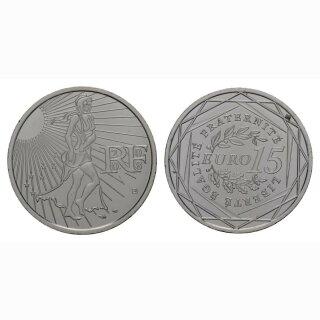 Frankreich 15 Euro 2008 Silber Nationale Symbole