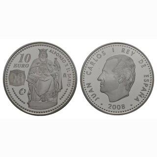 Spanien 10 Euro 2008 Silber Spanische Könige