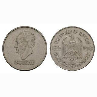 Deutschland  3 Reichsmark 1932 L Göthe