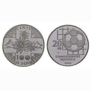 Schweiz 20 Franken 2004 B 100 Jahre FIFA