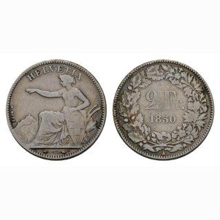 2 Franken 1850 A Schweiz