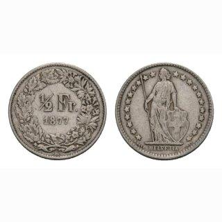 50 Rappen 1877 Schweiz