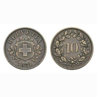 10 Rappen 1871 Schweiz