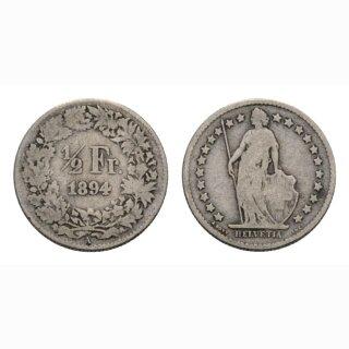 50 Rappen 1894 A Schweiz