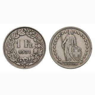 1 Franken 1931 B Schweiz