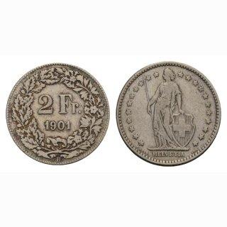 2 Franken 1901 B Schweiz