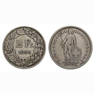 2 Franken 1906 B Schweiz