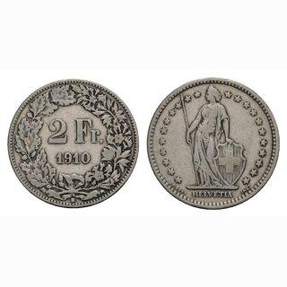 2 Franken 1910 B Schweiz