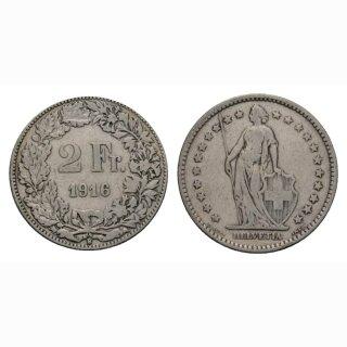 2 Franken 1916 B Schweiz