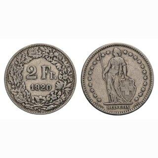 2 Franken 1920 B Schweiz