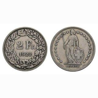 2 Franken 1922 B Schweiz