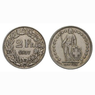 2 Franken 1937 B Schweiz
