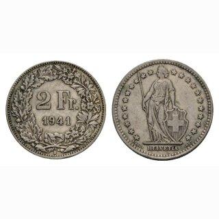 2 Franken 1941 B Schweiz