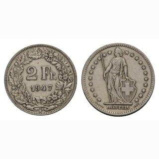 2 Franken 1947 B Schweiz
