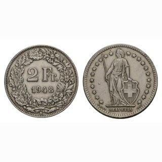 2 Franken 1948 B Schweiz
