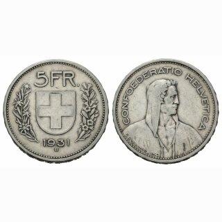 5 Franken 1931 B Schweiz