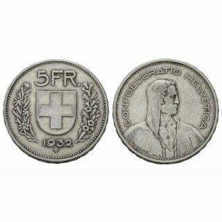 5 Franken 1932 B Schweiz