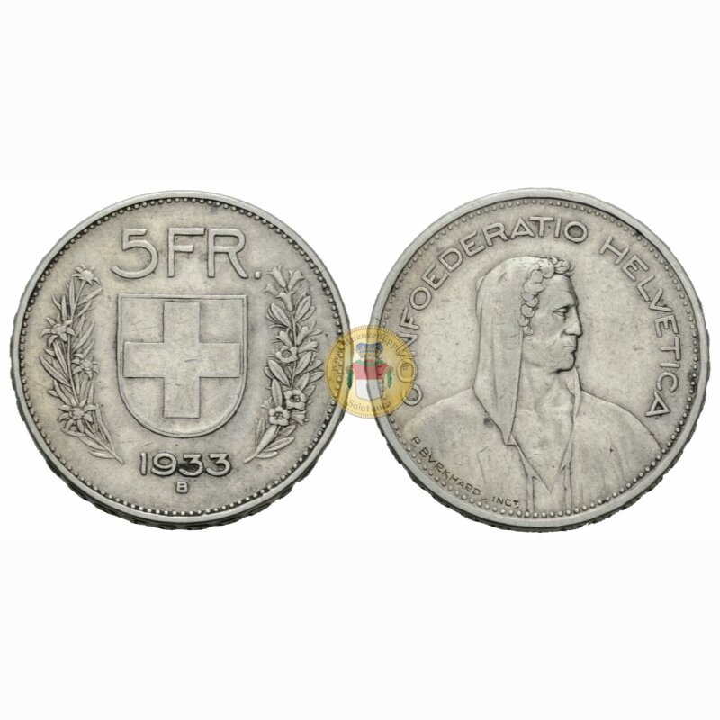 5 Franken 1933 B Schweiz