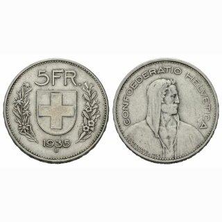 5 Franken 1935 B Schweiz