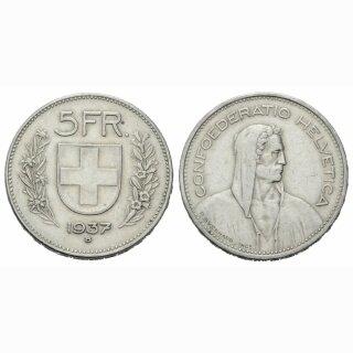 5 Franken 1937 B Schweiz