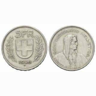 5 Franken 1948 B Schweiz