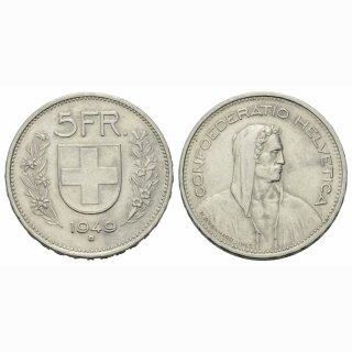 5 Franken 1949 B Schweiz