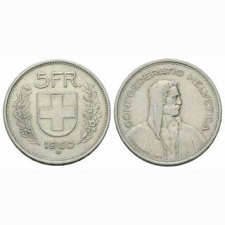 5 Franken 1950 B Schweiz