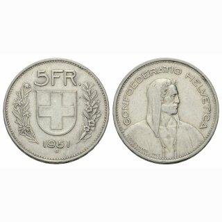 5 Franken 1951 B Schweiz