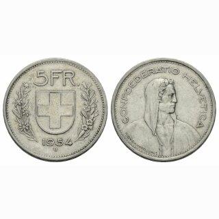 5 Franken 1954 B Schweiz
