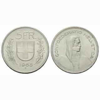 5 Franken 1965 B Schweiz