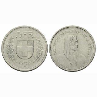 5 Franken 1967 B Schweiz