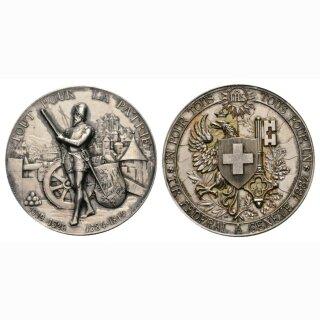 1887 Eidg. Schützenfest Genf Silber Ri 688b