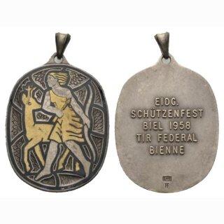 1958 Eidg. Schüteznfest Biel Silber