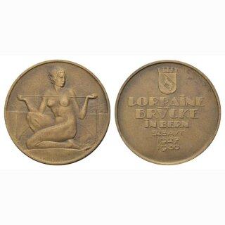 1930 Medaille Erbauung Loraine Brücke Bern