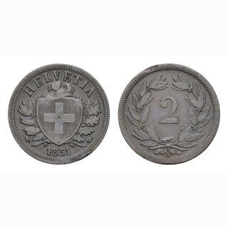 2 Rappen 1851 A Schweiz