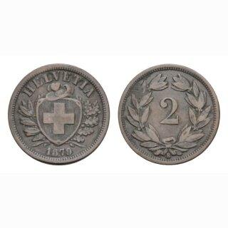 2 Rappen 1879 B Schweiz