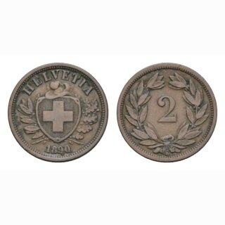 2 Rappen 1890 B Schweiz