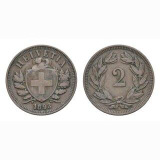 2 Rappen 1893 B Schweiz