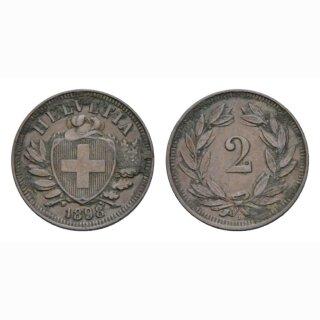 2 Rappen 1898 B Schweiz