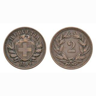 2 Rappen 1899 B Schweiz