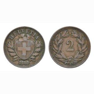 2 Rappen 1900 B Schweiz