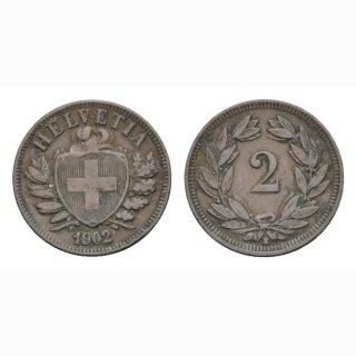 2 Rappen 1902 B Schweiz