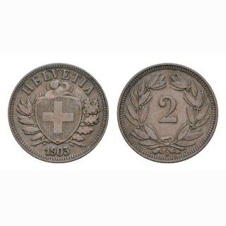 2 Rappen 1903 B Schweiz