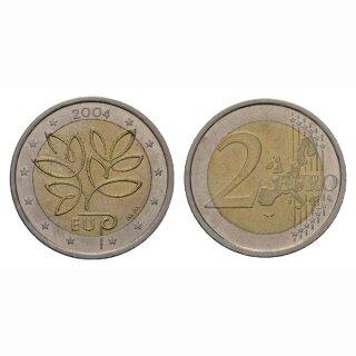 Finnland 2 Euro 2004 EU Erweiterung  Gedenkmünze