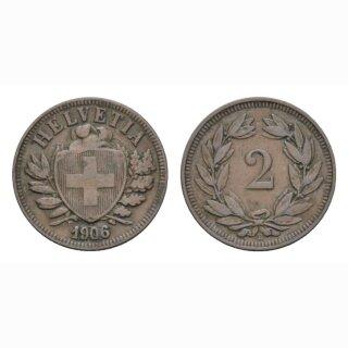 2 Rappen 1906 B Schweiz