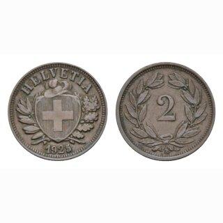2 Rappen 1925 B Schweiz